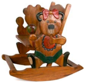 Merveilleux Childrens Wooden Teddy Rocking Chair